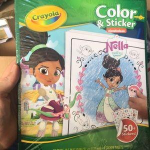 2 Bella crayons color & sticker books